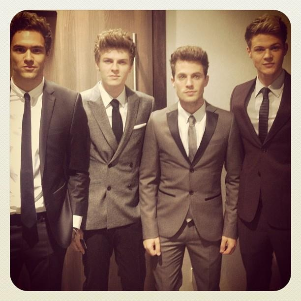 Lawson. Andy Brown, Joel Peat, Adam Pitts and Ryan Fletcher.