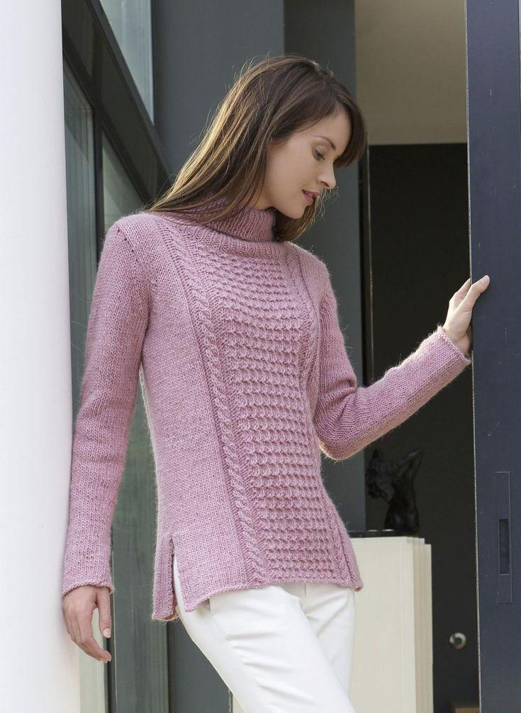 Мобильный LiveInternet Розовый свитер спицами | Gania - Дневник Gania |