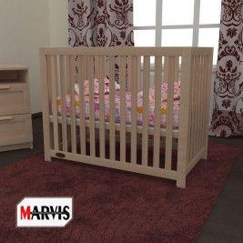 Vă oferim un pătuț sigur, din lemn masiv de fag, pentru copii și bebelusi.