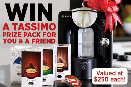 Sweepstakes ~ Win A #Tassimo Prize Pack For You & A Friend ~ CANADA ...