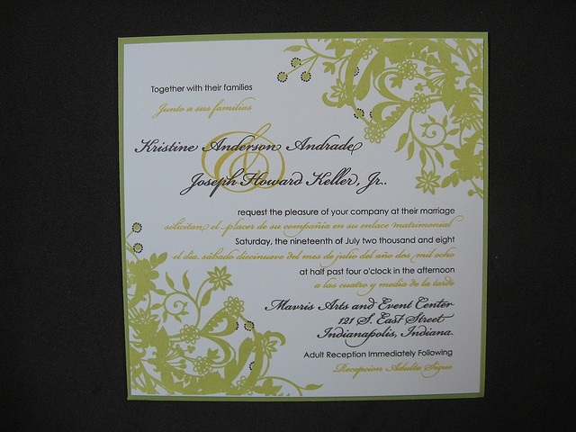 Bilingual Wedding Invitations: 99 Best Images About Bilingual Wedding Invitations On