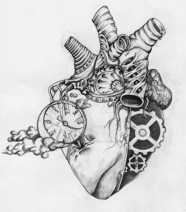 Resultado de imagen de corazon humano dibujo a lapiz