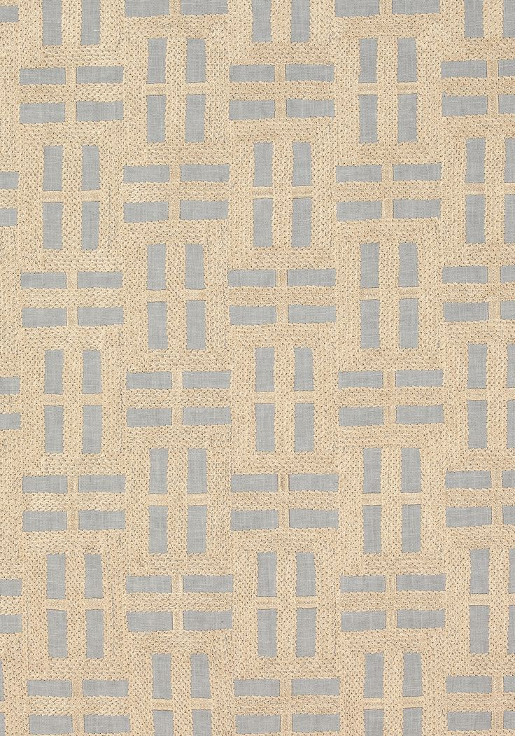 LOCK EMBROIDERY, Gold on Grey, AW73002, Collection Meridian from Anna French