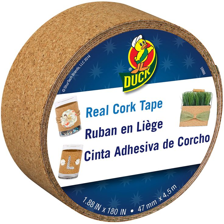 Make your arts and crafts project secure as well as beautiful with this cork decorative tape. Fifteen yards of cork crafting tape are provided for your crafting needs. Use the tape to pin your favorit