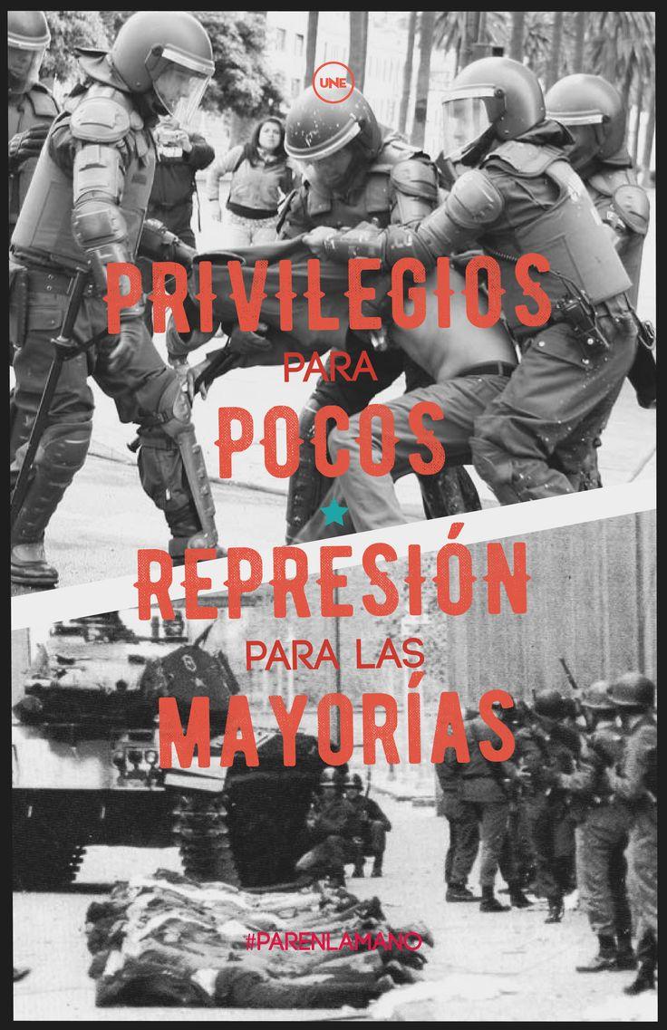 #Democracy #repression #Chile #Police #Poster