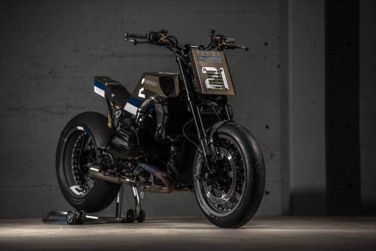 "Awesome custom built BMW R1200R by VTR Customs called ""Eddie21"", as a tribute to superbike race legend Eddie Lawson."