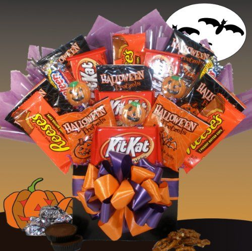 Delight Expressions™ Happy Haunting Halloween Gift Box - Chocolate and Candy Bouquet - Gift Basket Idea - http://mygourmetgifts.com/delight-expressions-happy-haunting-halloween-gift-box-chocolate-and-candy-bouquet-gift-basket-idea/