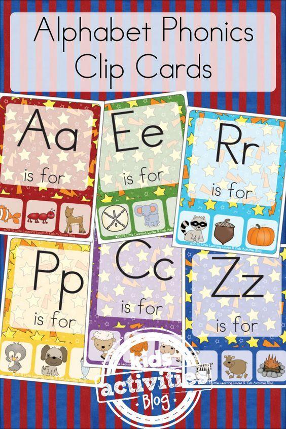FREE Alphabet Phonics Clip Cards