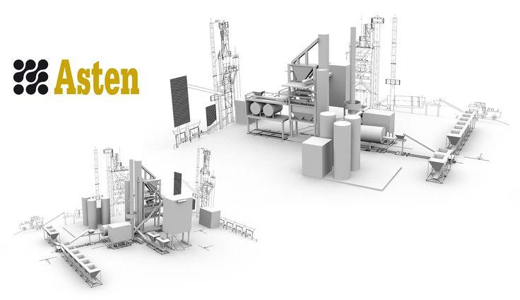Nous réalisons les illustrations d'une maquette 3D pour présenter le projet d'implantation d'une usine. Destinée à répondre à un appel d'offre public, la représentation 3D de l'usine est réalisée selon les plans de l'architecte.