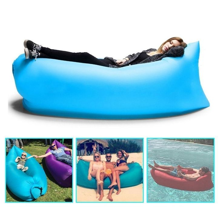 Beautiful Inflatable Sofa Nylon Fabric Lounger Chair Air Compression Outdoor Camping  Beach Sleeping Bag Pads Portable Lazy