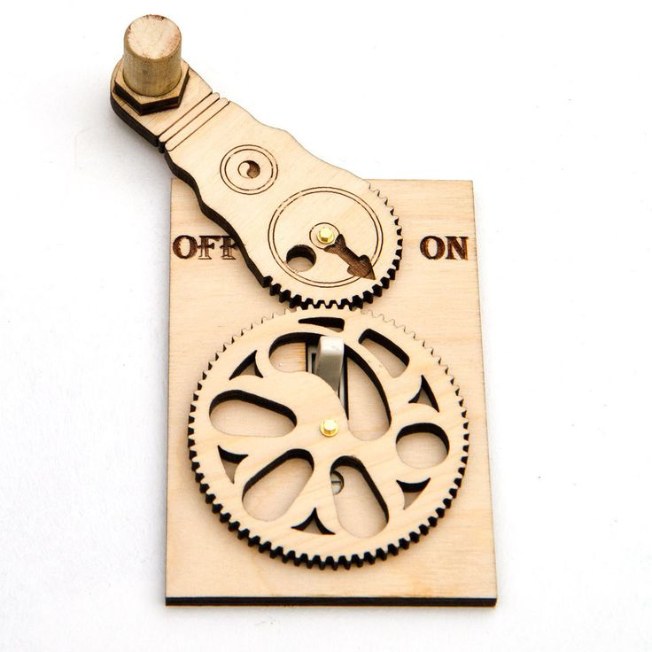 Geared Wheel Light Switch Plate - Linnell Design