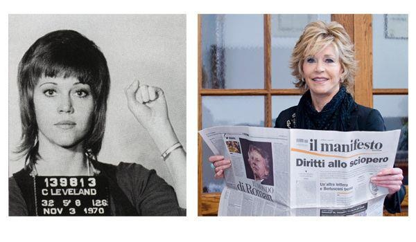 Jane Fonda supports il manifesto (picture by Luca Celada)