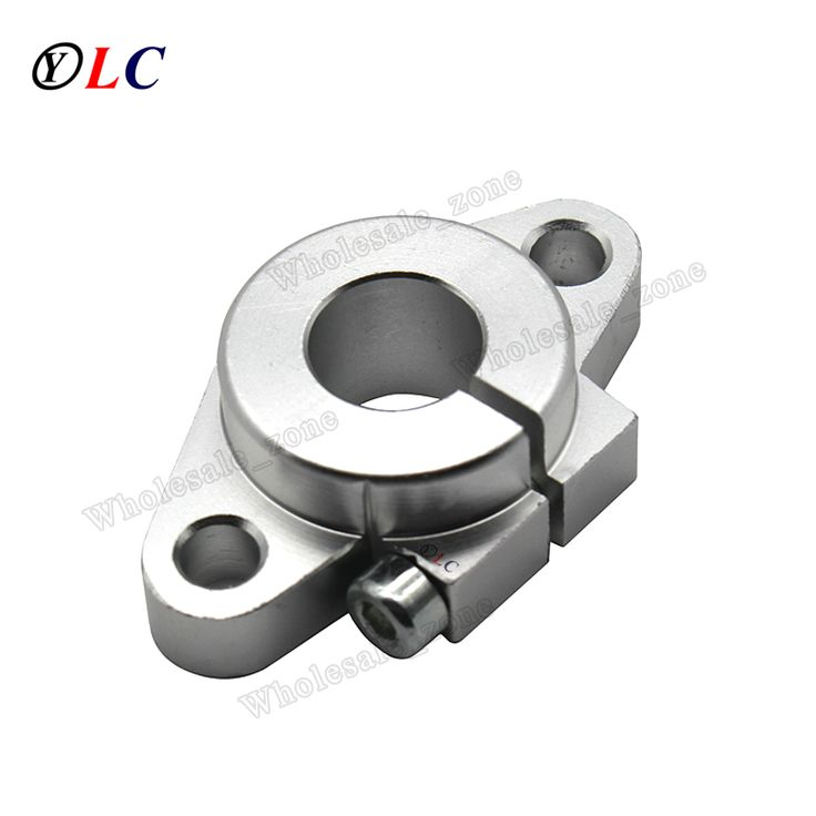 Round SHF12 12mm Aluminum Linear Rod Rail Shaft Support Bracket for Linear Guides bearing rail DIY CNC Machine Tool