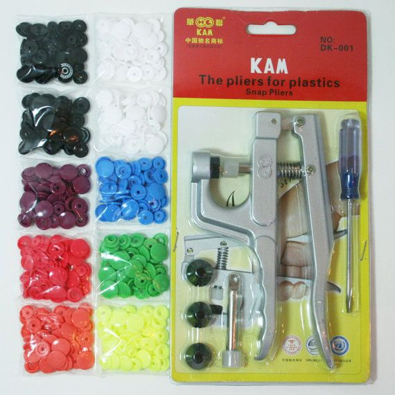 KAM Snap Pliers Starter Kit 10 Sets of Colors w/ by BreesBasement