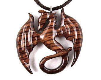 Dragon Necklace Dragon Pendant Mens Dragon Necklace Dragon