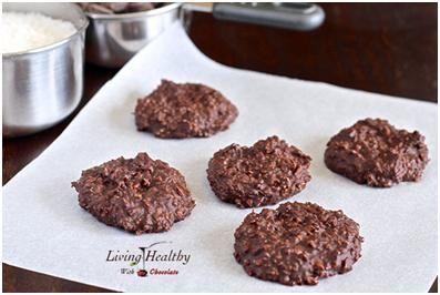 Non Bake Chocolate Cookies (Paleo, Gluten Free, Grain Free):