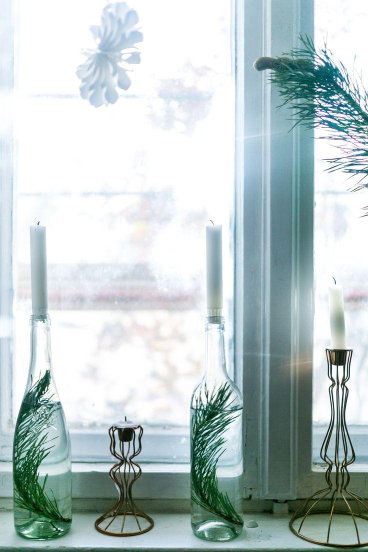 Heute auf dem Blog: DIY Weihnachtsdeko Flaschen