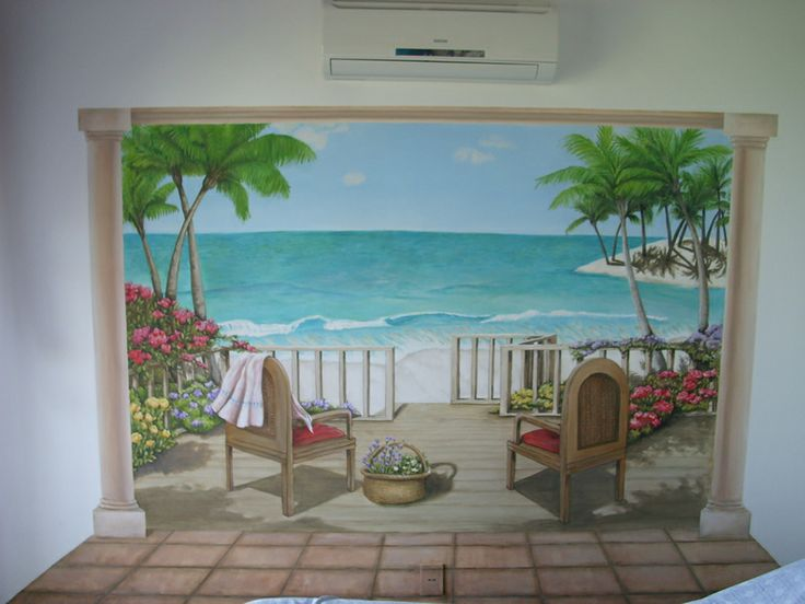 86 best murals images on pinterest murals beach mural for Beach mural painting