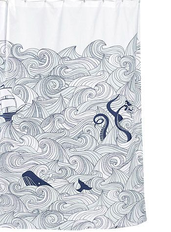 Wish I Had A Shower Without Doors Deep Sea Odyssey Curtain