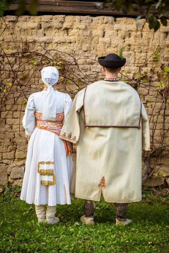 0977af58c A traditional attire for a newlywed couple in Soblahov. Slovakia | slov  kroje | Newlyweds, Couples a Europe