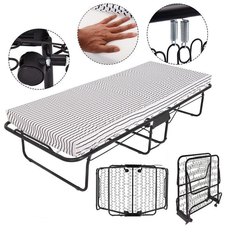 """75""""x31"""" Folding Guest Bed Foam Mattress Portable Sleeper"""