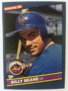 1986 Donruss Billy Beane baseball card