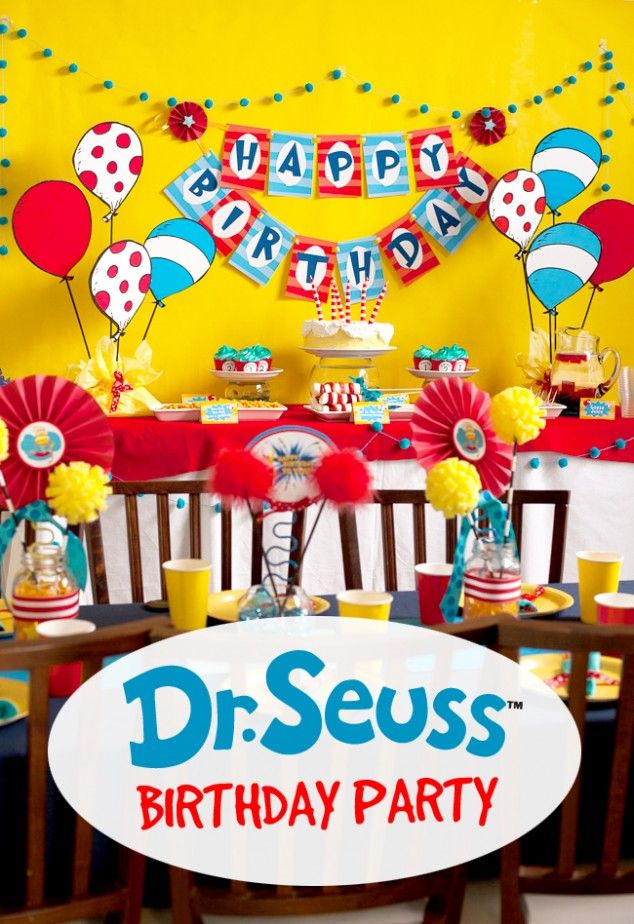 Fun and unique Dr Seuss Birthday Party ideas #seuss
