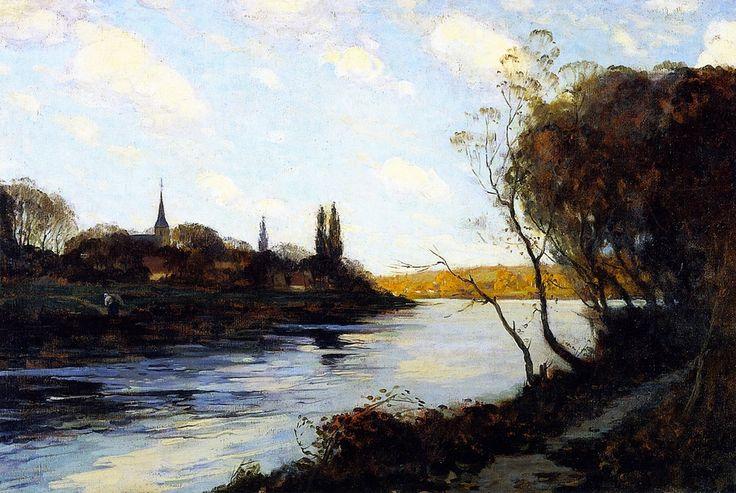 Criquebeuf-sur-Seine , 1907, by Clarence Gagnon