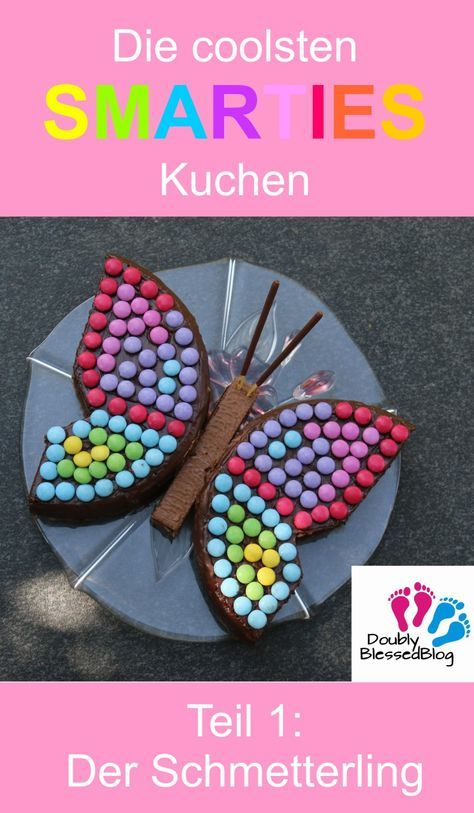 Die coolsten SMARTIES Kuchen - Bunt und zuckersüss! Teil 1: Der Schmetterling Zum Geburtstag einen Kuchen für die Kinder zu backen macht Freude - Und braucht jedes Jahr eine neue Idee. Im Teil 1 stelle ich Euch sen Schmetterling vor. Mehr aus meiner SMARTIES-Serie findest Du auf dem Blog!