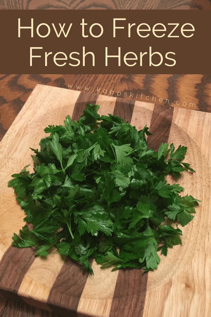How to Freeze Herbs: A simple and quick way to reduce food waste and save money.
