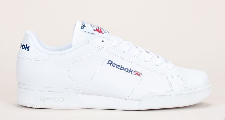 cool Tendance Basket 2017 - Sneakers cuir blanc perforé broderie logo NPC  II Reebok prix promo 969ce6f2c37d