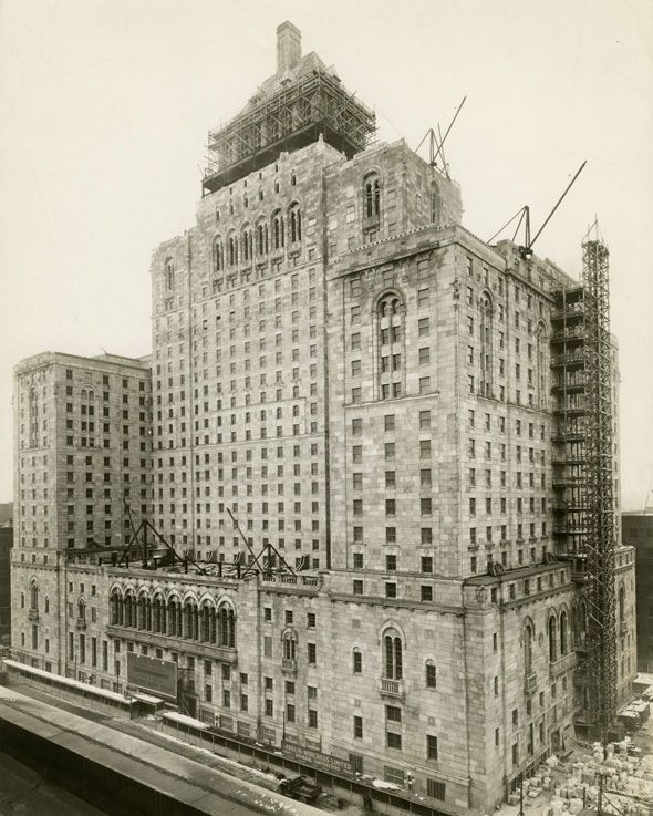 Toronto 1920s The Royal York Hotel, completed in the late '20s... Toronto's tallest structure at that time.