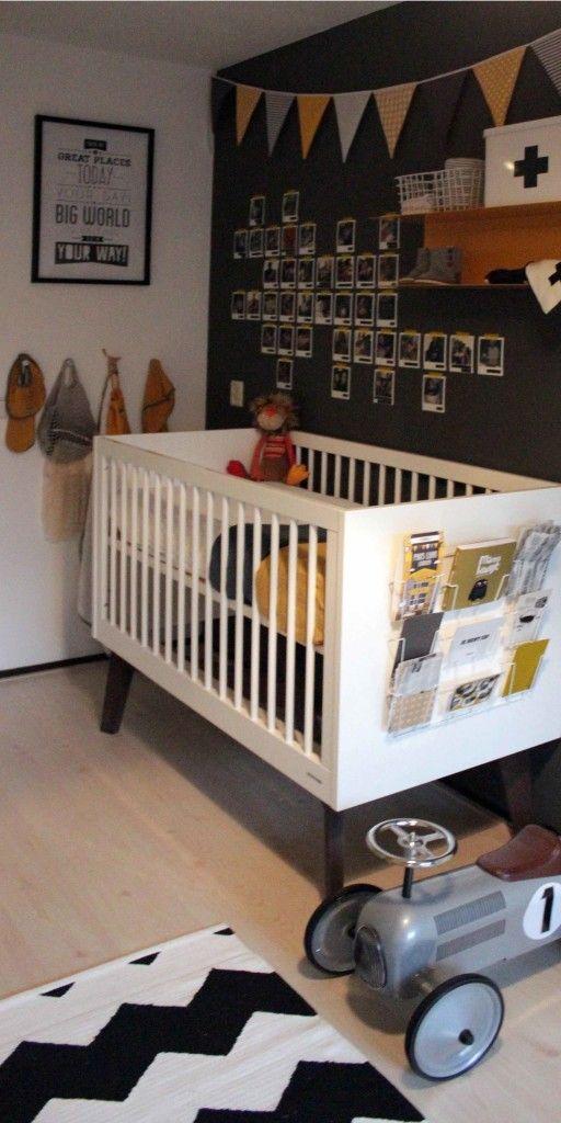 Babykamer zwart/wit/geel