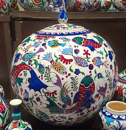 TURKISH CERAMIC OTTOMAN COLLECTION JAR -20 cm