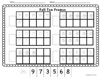 56 best images about teaching math ten frames on for 10 frame template printable