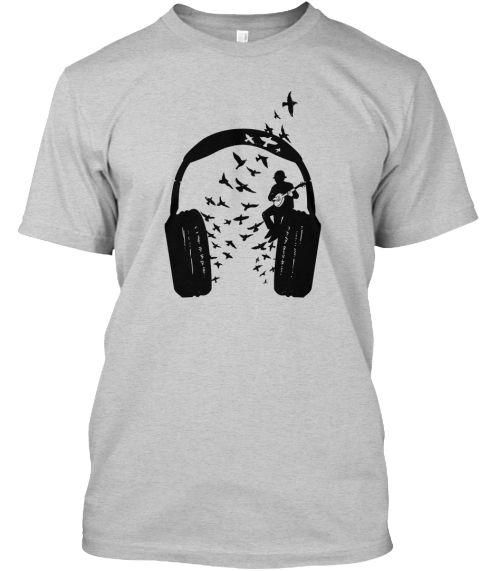 headphone music banjo - teespring