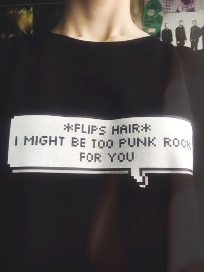*Flips Hair* and since when do you fucking decide what's punk rock and what isn't anyway you stupid twat? Should be the follow up hoodie to this shirt. I mean, i would totally wear it. I would buy it. I would buy them both. Matching set.
