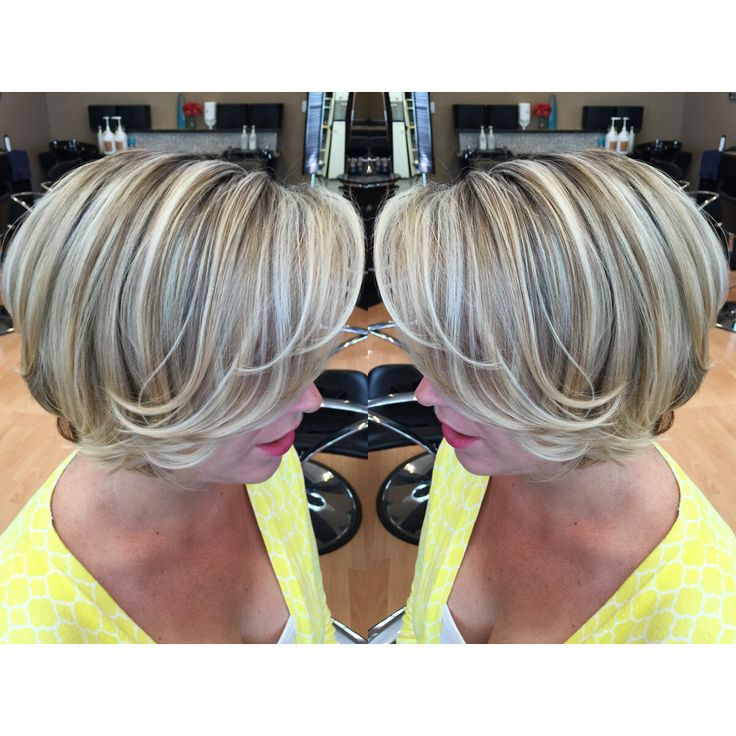 short hair with blonde ashy highlights