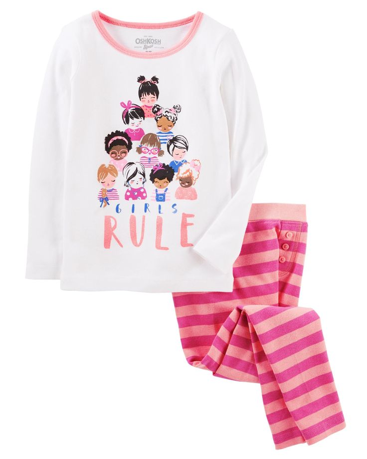 Toddler Girl 2-Piece Snug Fit Cotton PJs | OshKosh.com