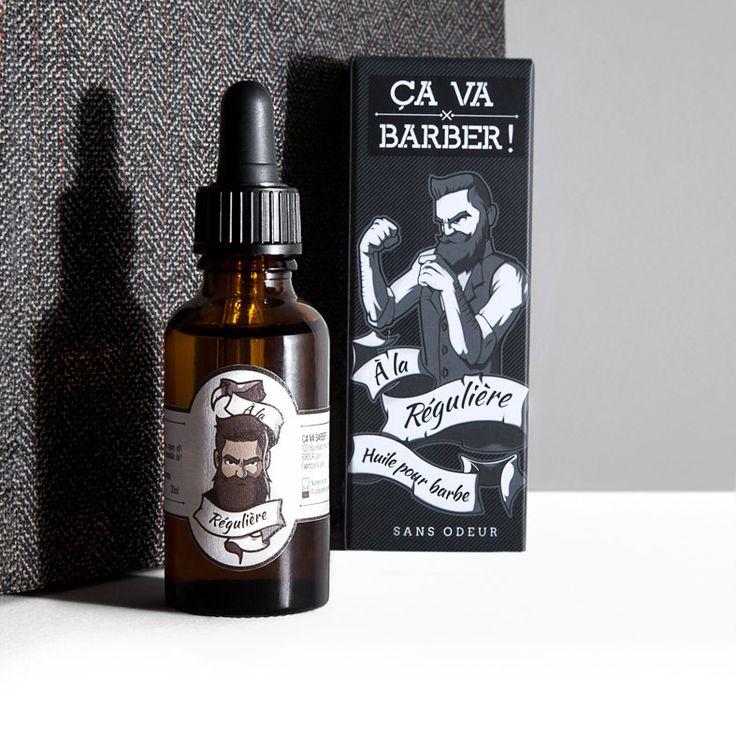 Huile pour barbe - sans odeur - fait main à Lyon par Ça va barber