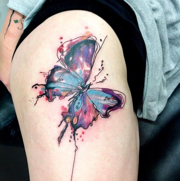 35 breathtaking butterfly tattoo designs for women. Black Bedroom Furniture Sets. Home Design Ideas