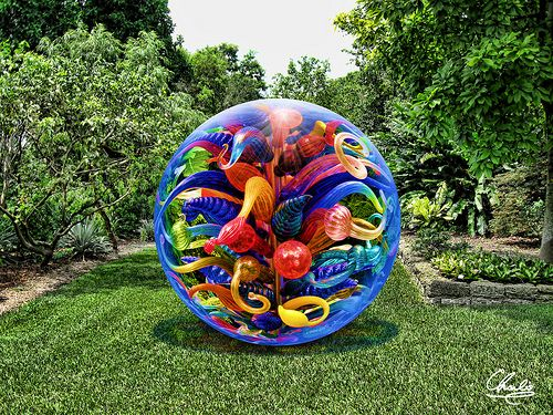 Chihuly Orb  At the Fairchild Tropical Botanical Garden.