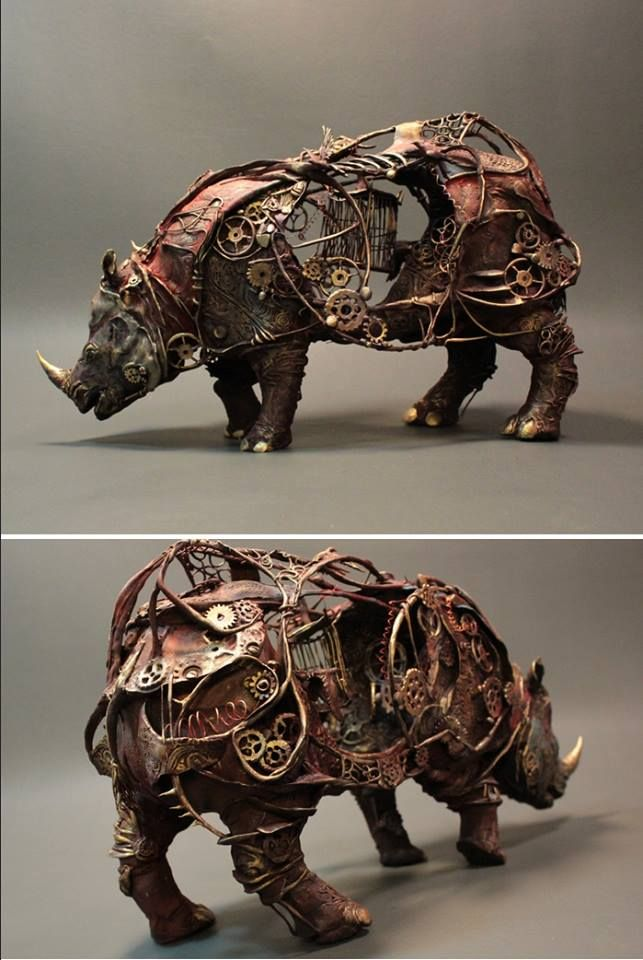 Mechanical Rhinoceros by Creaturefromel New Group : Come to share, promote your art, your event, meet new people, crafters, artists, performers... https://www.facebook.com/groups/steampunktendencies