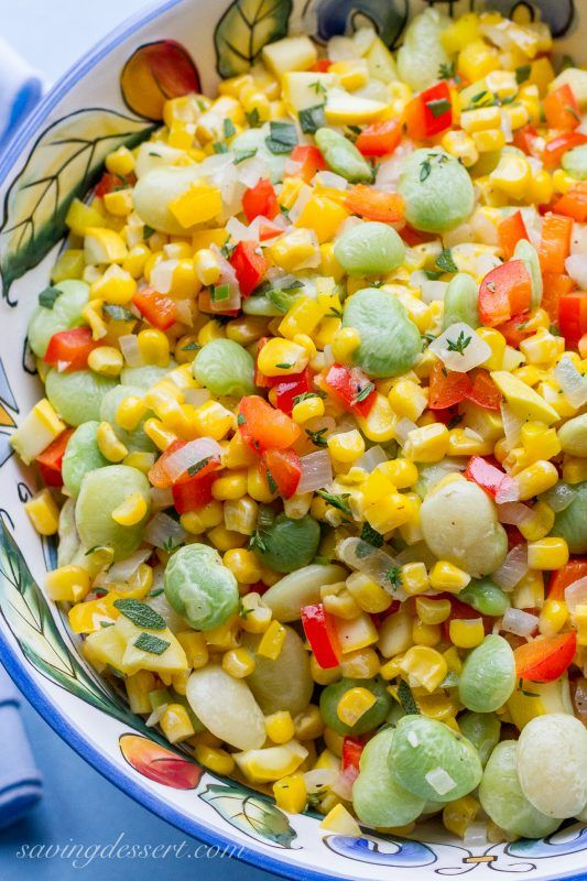 Succotash - a wonderful, colorful and full flavored classic American dish!
