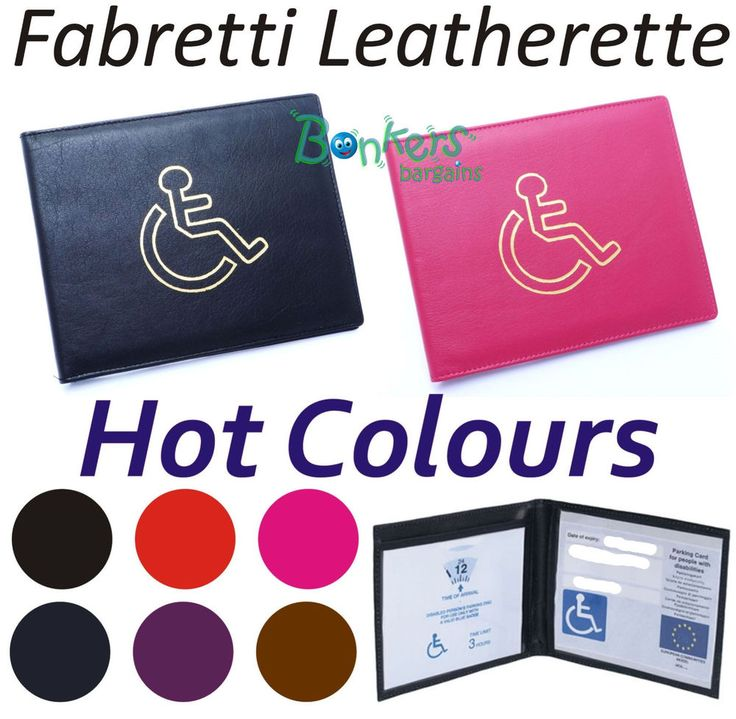 DISABLED BADGE CAR HOLDER WALLET PARKING BLUE DISABILITY COVER, Fawn Colour #FCB