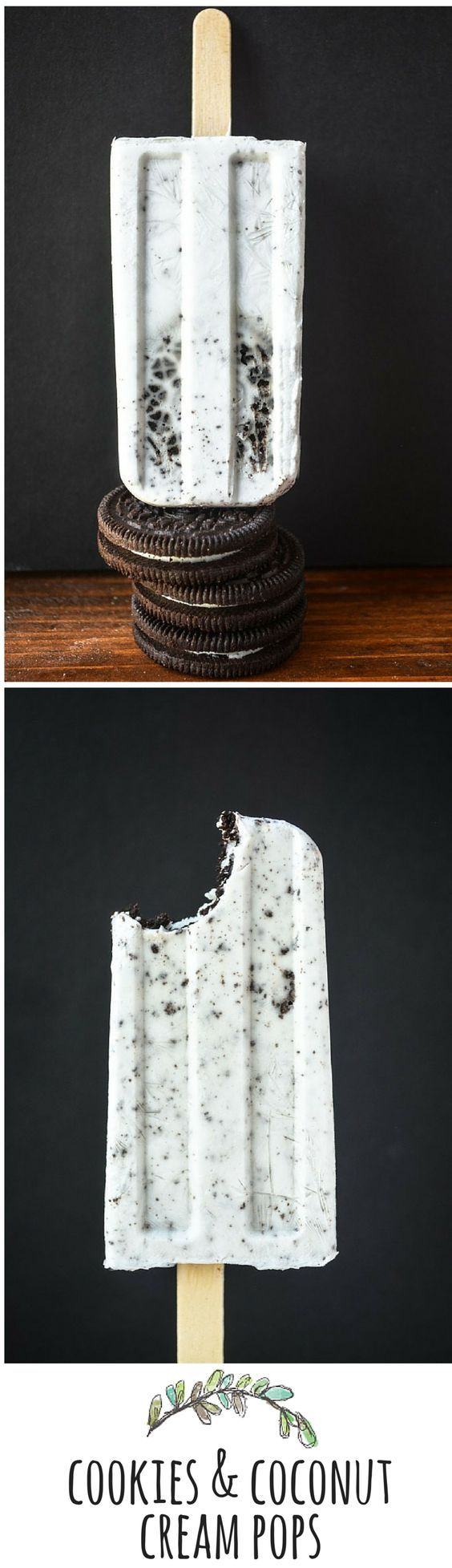 Cookies and Coconut Milk Popsicles
