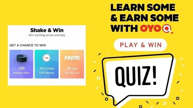 Oyo Q Quiz Answers Win Paytm Cash 6th February 2020 In 2020
