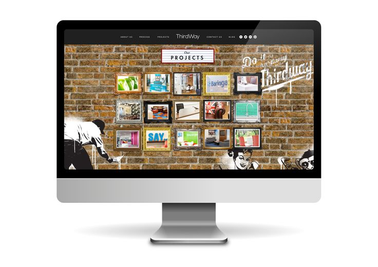 Website design and development for ThirdWay Interiors. Project gallery page.