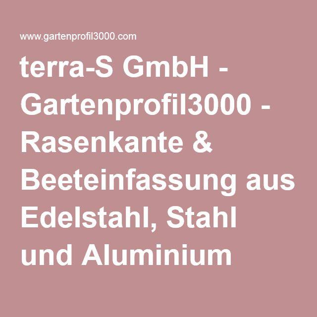 terra-S GmbH - Gartenprofil3000 - Rasenkante & Beeteinfassung aus Edelstahl, Stahl und Aluminium