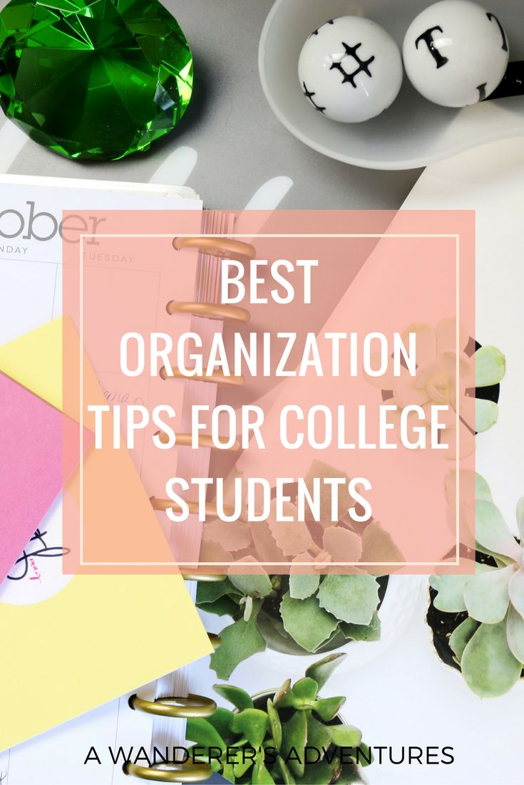 Organization is one of the things college students struggle with the most. Want…